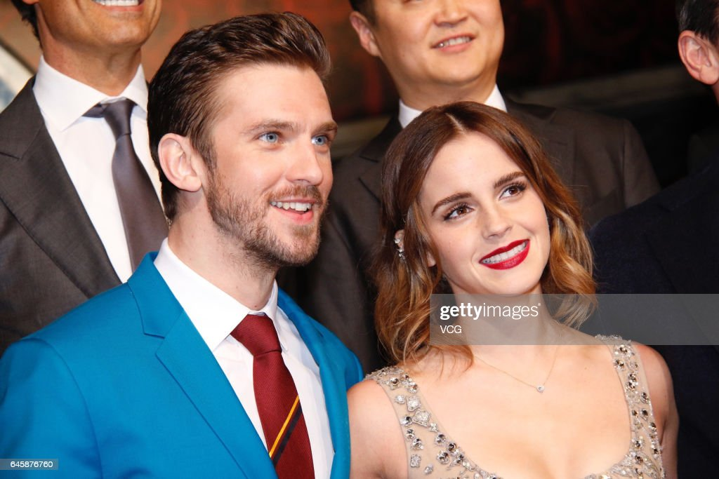 British Actor Dan Stevens And Actress Emma Watson Attend The Premiere Of American Director Bill