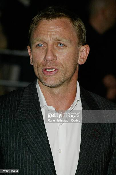 British actor Daniel Craig arrives at the world premiere of Matthew Vaughn's movie 'Layer Cake' at the Electric Cinema in Notting Hill