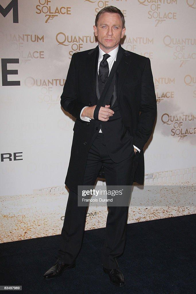 68d0e129b2 British actor Daniel Craig attends the Paris Premiere of Quantum of ...