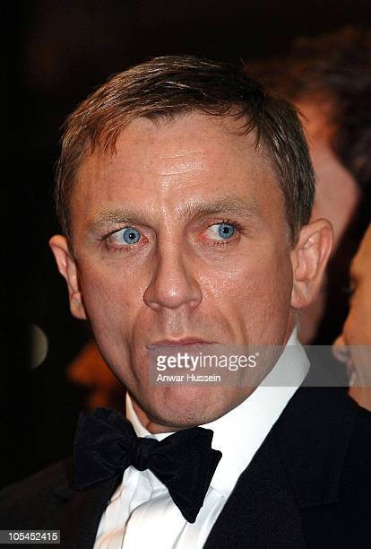 British actor Daniel Craig the new James Bond attends the Royal Premiere for the 21st Bond film Casino Royale at the Odeon Leicester Square on...