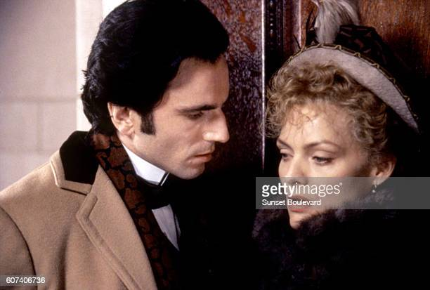 British actor Daniel Day Lewis and American actress Michelle Pfeiffer on the set of The Age of Innocence based on the novel by Edith Wharton and...