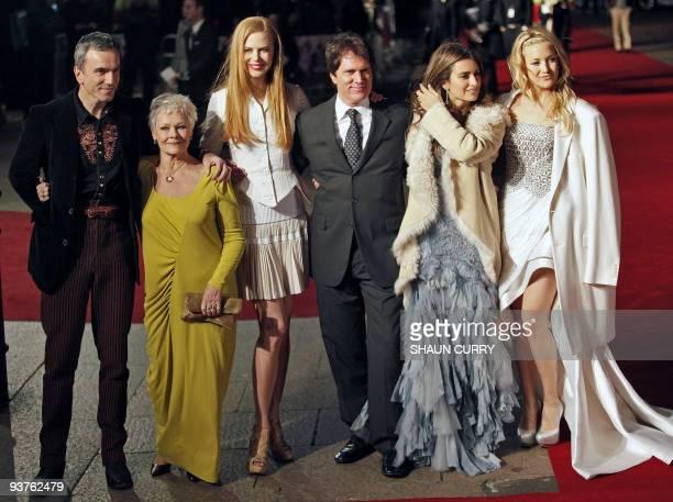 British actor Daniel DayLewis British actress Dame Judi Dench Australian actress Nicole Kidman US director Rob Marshall Spanish actress Penelope Cruz...