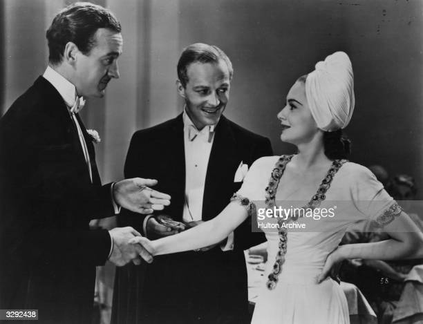 British actor David Niven stars with Olivia De Havilland and Douglas Walton in the Samuel Goldwyn film 'Raffles' based on the novel 'Raffles The...