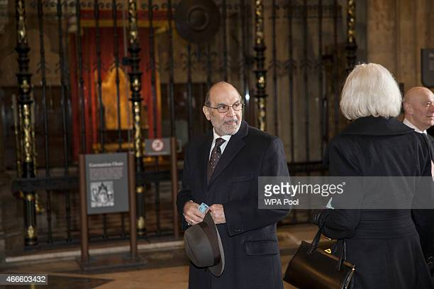 British actor David Suchet attends a service of thanksgiving for the life and work of Lord Attenborough CBE at Westminster Abbey on March 17 2015 in...