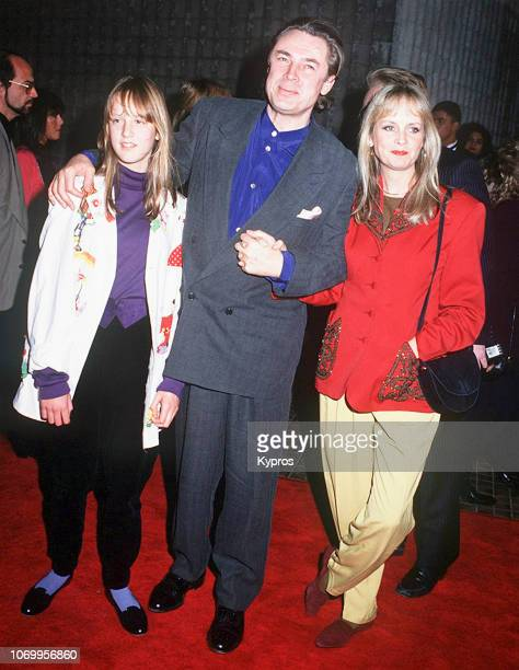 British actor director and writer Leigh Lawson and British fashion model actress and singer Twiggy Lawson with their daughter Carly Witney attend the...