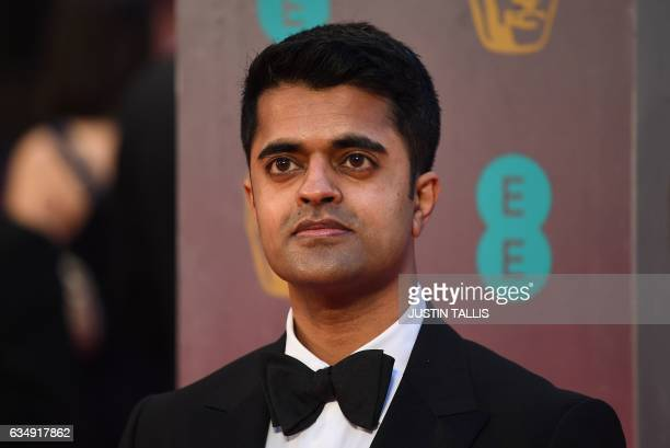 British actor Divian Ladwa poses upon arrival at the BAFTA British Academy Film Awards at the Royal Albert Hall in London on February 12 2017 / AFP /...