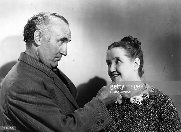 British actor Donald Crisp with Irish character actor Sara Allgood in a still for the film 'How Green was My Valley'.