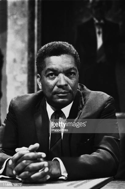 British actor Earl Cameron plays the role of Jordan Kobola in a scene from the Associated Television drama series 'The Power Game The Chicken Run' in...