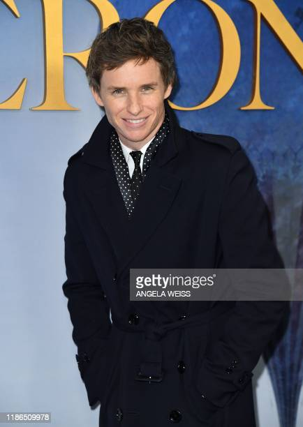 """British actor Eddie Redmayne arrives for the New York premiere of """"The Aeronauts"""" at the SVA theatre in New York on December 4, 2019."""