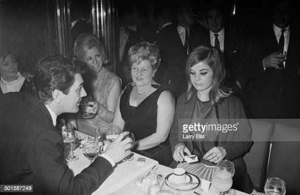 British actor Edmund Purdom with Frances Shea wife of English gangster Reggie Kray at the El Morocco a nightclub owned by the Kray Twins in Soho...
