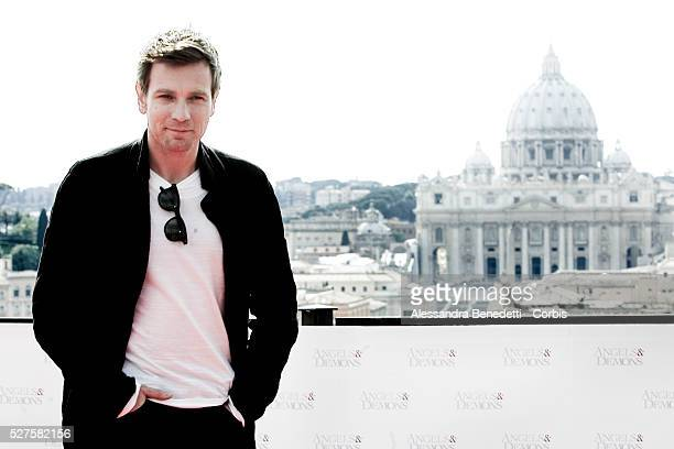 British actor Ewan McGregor attends the photo call of movie Angels Demons prior its world premiere in Rome at St Angels Castle in front of St Peter's...