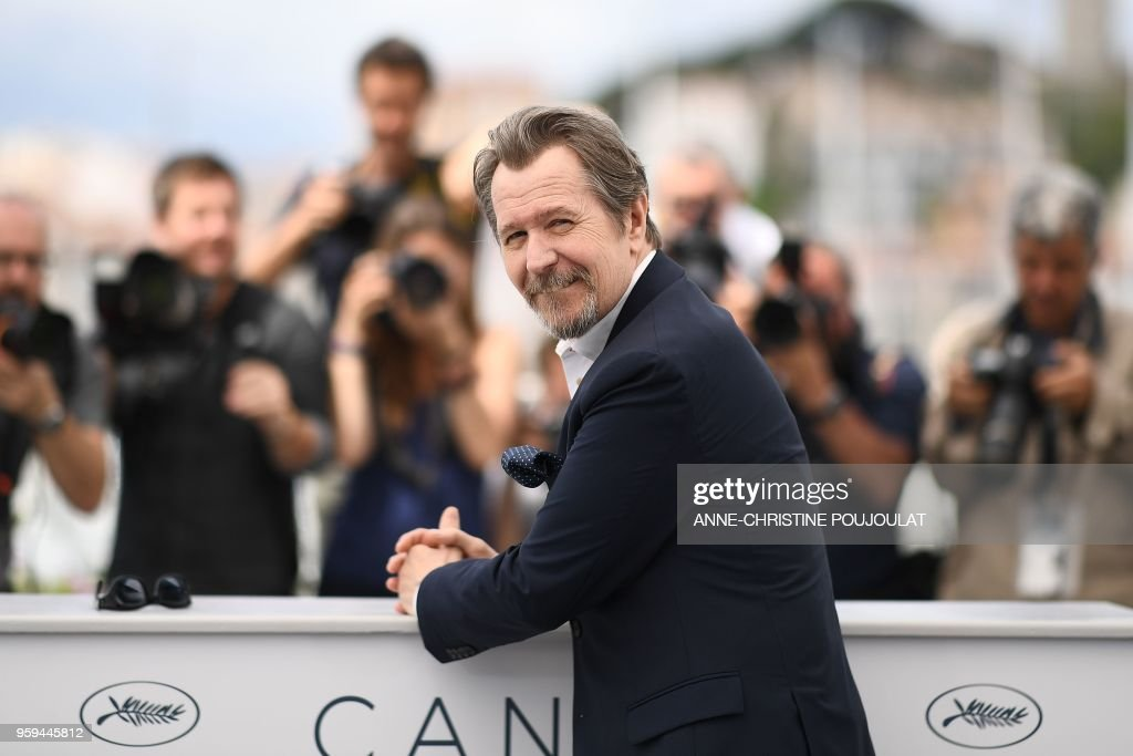 British actor Gary Oldman poses on May 17, 2018 during a 'Rendez-Vous with Gary Oldman' at the 71st edition of the Cannes Film Festival in Cannes, southern France.