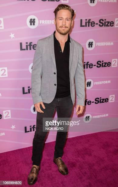 British actor Gavin Stenhouse arrives for the world premiere of 'LifeSize 2' at the Hollywood Roosevelt hotel in Hollywood on November 27 2018