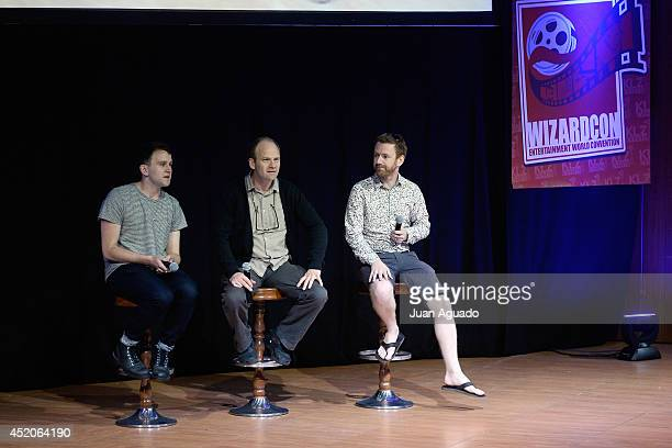 British actor Harry Melling British actor Adrian Rawlins and New Zealander actor Chris Rankin attend the 'Harry Potter' Panel during the Wizard Con...