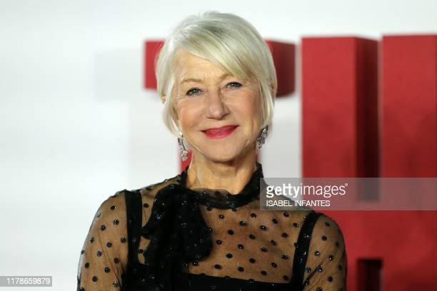 British actor Helen Mirren arrives to attend the world premiere of the film The Good Liar in London on October 28 2019