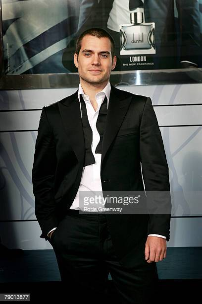 British actor Henry Cavill attends a photocall as the new face of Dunhill 'London' fragrance at Selfridges store on January 16 2008 in London England