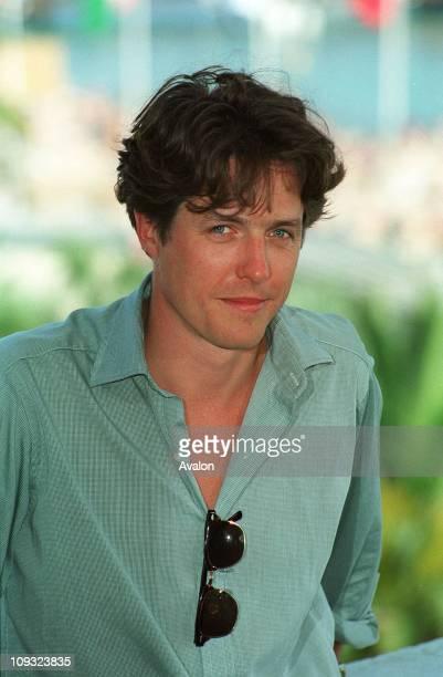 British Actor Hugh Grant Seen at the 1995 Cannes Film Festival.
