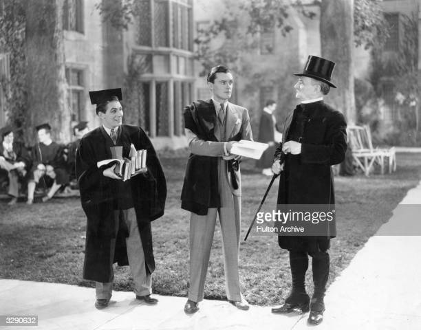 British actor Hugh Williams stars in the film 'Charley's Aunt in Hollywood' directed by Al Christie for Christie Film Company
