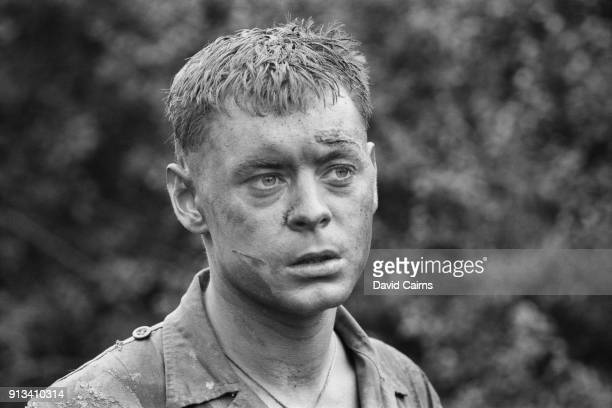 British actor Hywel Bennett as 'Pte Brigg' on the set of The Virgin Soldiers, UK, 29th October 1968.