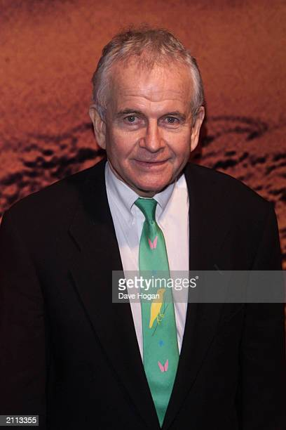 British Actor Ian Holm at the Lord of the Rings UK Premiere afterparty in Tobacco Dock London on December 11 2001 Holm starred as Bilbo Baggins in...