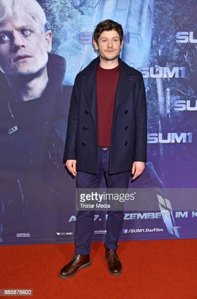 British actor Iwan Rheon attends the 'SUM 1' premiere at CineStar movie theatre on December 4 2017 in Berlin Germany