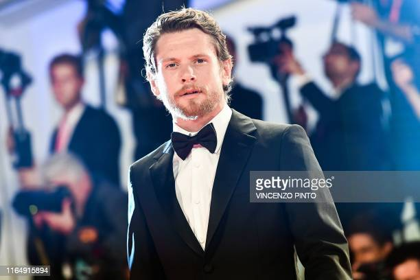 British actor Jack OConnell arrives for the screening of the film Seberg presented out of competition on August 30 2019 during the 76th Venice Film...