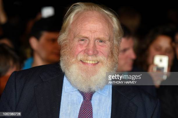 British actor James Cosmo poses upon arrival for the European premiere of the film Outlaw King during the BFI London Film Festival in London on...