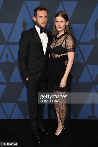 British actor Jamie Bell and his wife US actress Kate Mara arrive to attend the 11th Annual Governors Awards gala hosted by the Academy of Motion...