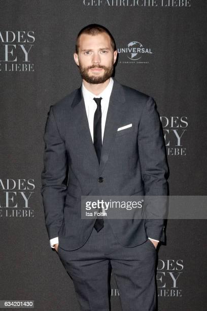 British actor Jamie Dornan attends the European premiere of 'Fifty Shades Darker' at Cinemaxx on February 7 2017 in Hamburg Germany