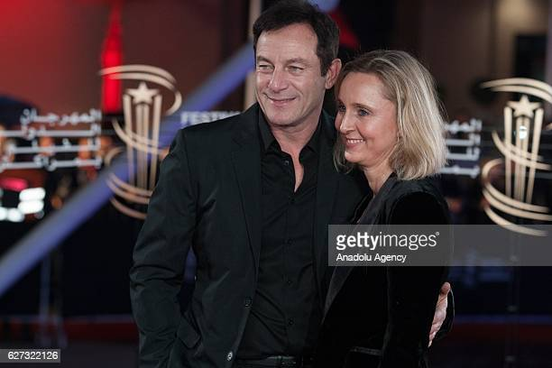 British Actor Jason Isaacs and Emma Hewitt attend the Opening Ceremony of the 16th Marrakech International Film Festival in Marrakech Morocco on...