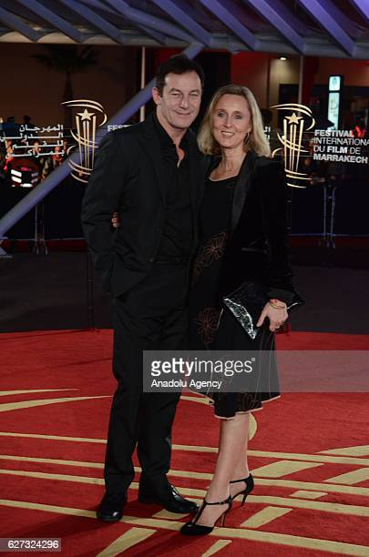British Actor Jason Isaacs and Emma Hewitt attend the Opening Ceremony of the 16th Marrakech International Film Festival in Marrakech, Morocco on...