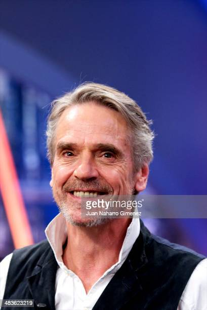 British actor Jeremy Irons attends 'El Hormiguero' Tv show at Vertice Studio on April 9 2014 in Madrid Spain