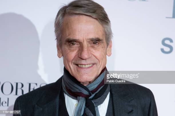 British actor Jeremy Irons attends Pintores y Reyes del Prado premiere at Verdi cinema on December 04 2019 in Madrid Spain