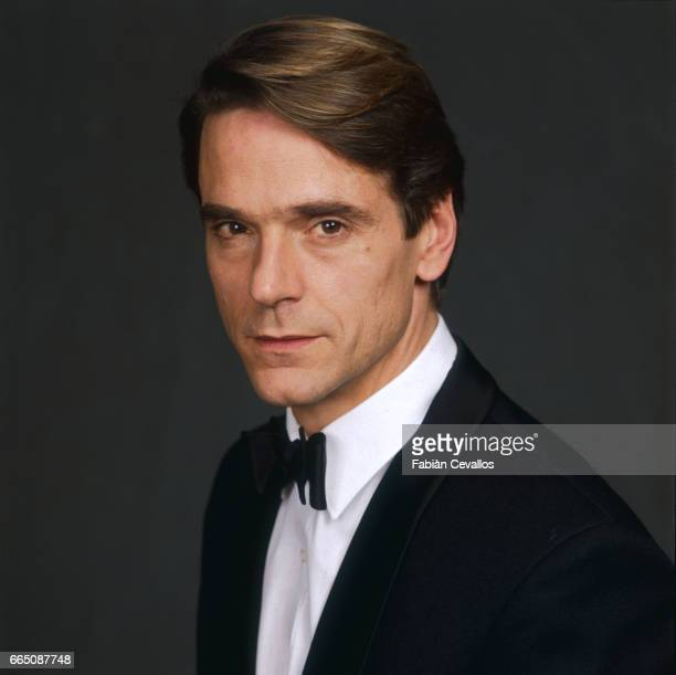 British actor Jeremy Irons poses for a portrait on the set of the 1989 French film Australia directed by JeanJacques Andrien and also starring Tcheky...