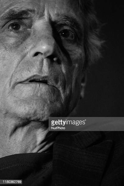 British actor Jeremy Irons presents the Bernardo Bertolucci movie's 'Stealing Beauty' at the San Cosimato square in Rome Italy on June 16 2019