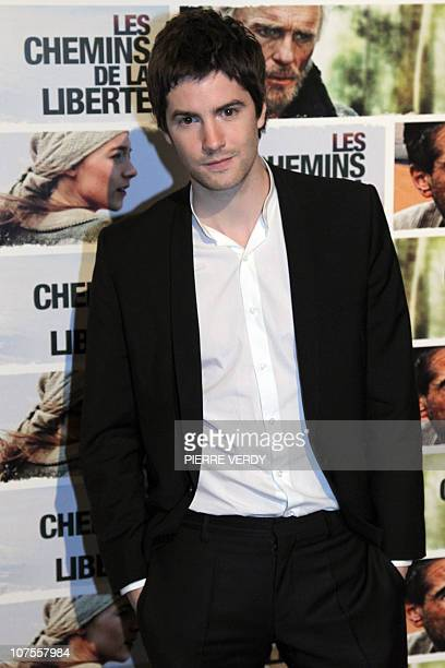 British actor Jim Sturgess poses during the photocall of Australian film director Peter Weir's movie The Way Back Les chemins de la liberte on...