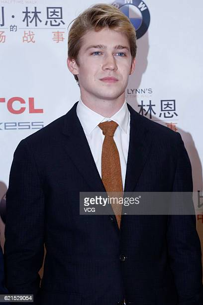 British actor Joe Alwyn attends the premiere of director Ang Lee's film 'Billy Lynn's Long Halftime Walk' on November 6 2016 in Beijing China