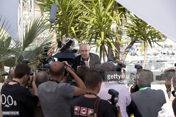 British actor John C Reilly poses during the photocall of 'We Need to Talk About Kevin' presented in competition at the 64th Cannes Film Festival on...