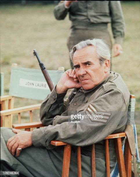 British Actor John Le Mesurier On the set of the classic BBC TV comedy show 'Dad's Army'