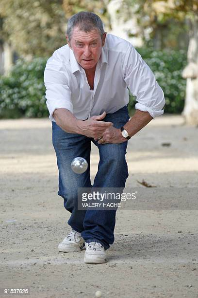 "British actor John Nettles plays Petanque during a photocall for the ""Midsomer Murders"" TV show at the 25th edition of the MIPCOM on October 6, 2009..."