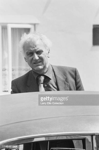 British actor John Thaw pictured during filming of the television detective series Inspector Morse in which he stars as the eponymous policeman in...