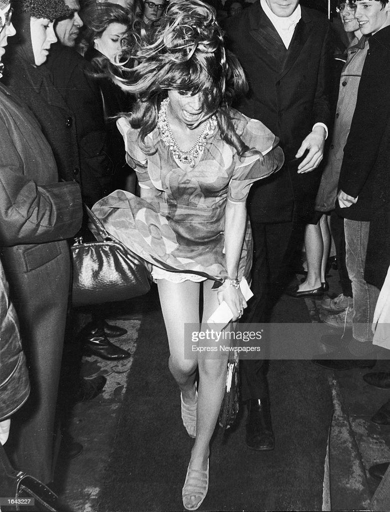 British Actor Julie Christie S Dress Flies Up During A