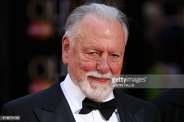 British actor Kenneth Cranham poses on the red carpet upon arrival to attend the 2016 Laurence Olivier Awards in London on April 3 2016 Kenneth...