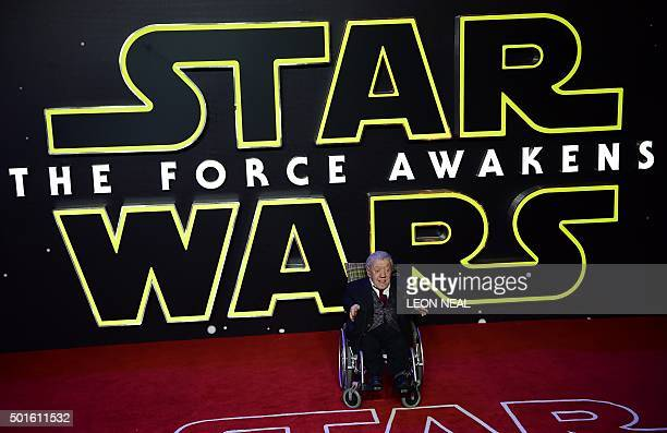British actor Kenny Baker attends the opening of the European Premiere of 'Star Wars The Force Awakens' in central London on December 16 2015 Ever...