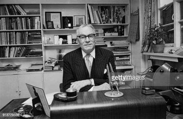 British actor Laurence Olivier in his office Waterloo London UK 25th January 1968