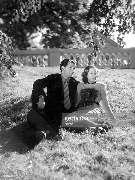 British actor Laurence Olivier with Australian born British actress Merle Oberon formerly Estelle O'Brien Merle Thompson
