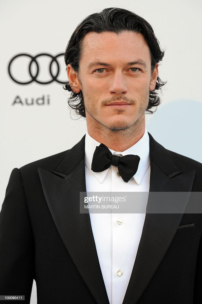 British actor Luke Evans poses while arriving at amfAR's Cinema Against Aids 2010 benefit gala on May 20, 2010 in Antibes, southeastern France.