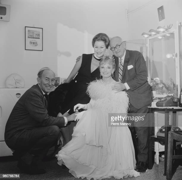 British actor Margaret Leighton Michael Wilding and Anna Neagle with her husband British film producer and director Herbert Wilcox UK 2nd October 1969