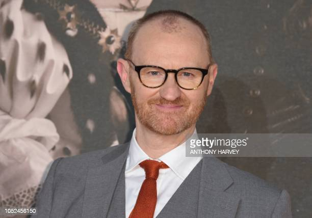 British actor Mark Gatiss poses upon arrival for the UK premiere of the film 'The Favourite' during the BFI London Film Festival in London on October...