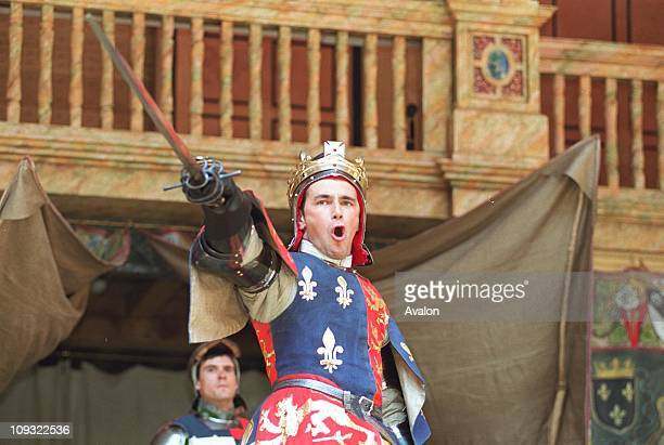 British Actor Mark Rylance Artistic Director Shakespeare's GlobeIn a scene from 'Henry V' at the Shakespeare's Globe Theatre London